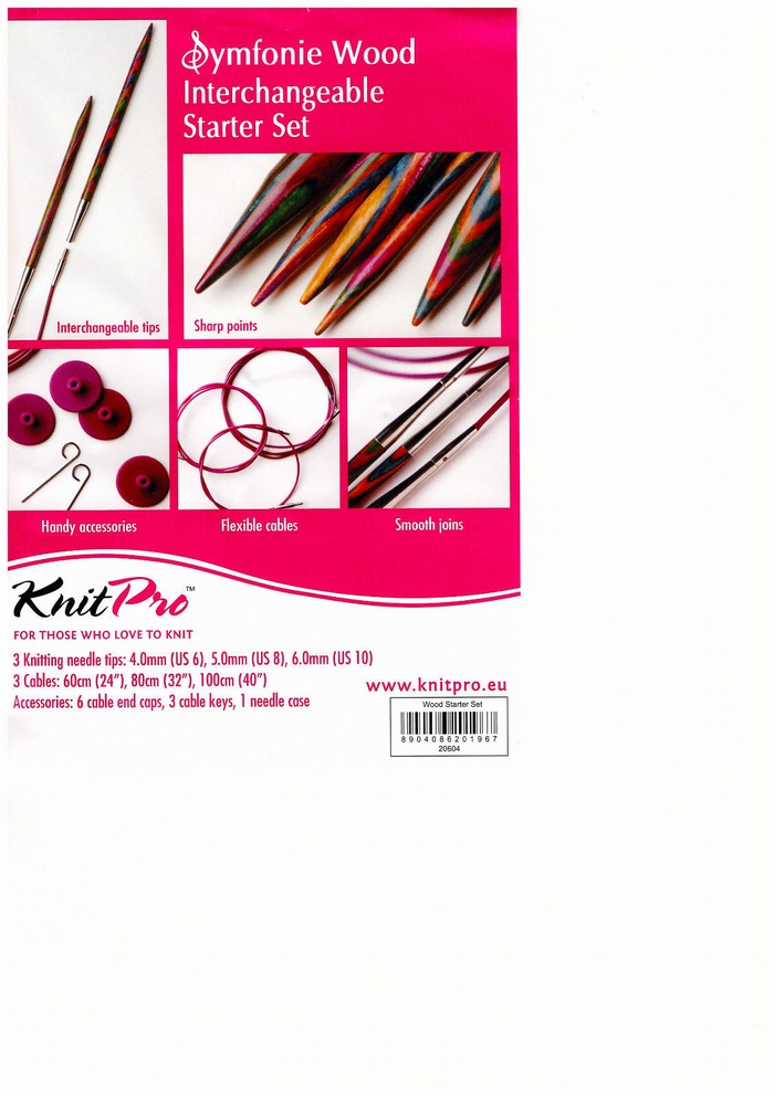 KnitPro Symfonie Wood Interchangeable Starter Set