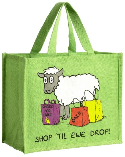 "Vanessa Bee Shopping Bag ""Shop Til Ewe Drop"""