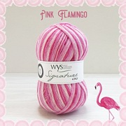 West Yorkshire Spinners Signature 4ply Cocktail Range PINK FLAMINGO