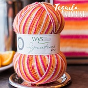 West Yorkshire Spinners Signature 4ply Cocktail Range TEQUILA SUNRISE.