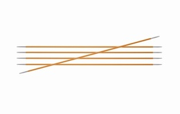 KnitPro Zings DPN Knitting Needles 2.25mm-Amber 15cm