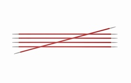 KnitPro Zings DPN Knitting Needles 2.5mm- Garnet