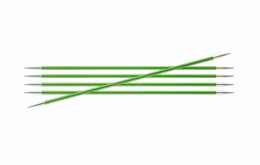 KnitPro Zings DPN Knitting Needles Chrysolite-3.5mm 15cm