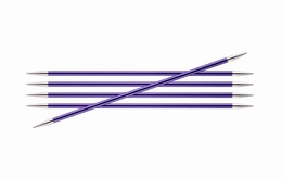 KnitPro Zings DPN Knitting Needles Amethyst-3.75mm