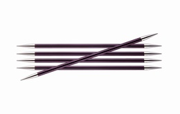 KnitPro Zings DPN Knitting Needles Purple Violet-6mm 15cm