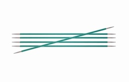 KnitPro Zings DPN Knitting Needles Emerald-8mm 15cm